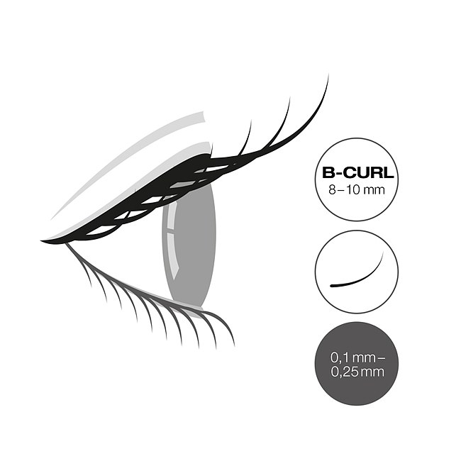LCN Captivating Lashes B Curl Box 8 - 10 mm