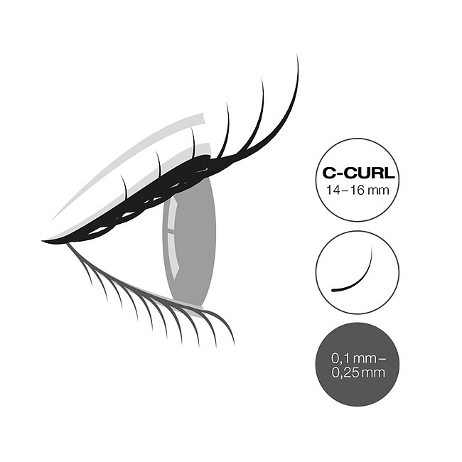 LCN Captivating Lashes C Curl Box 14-16 mm