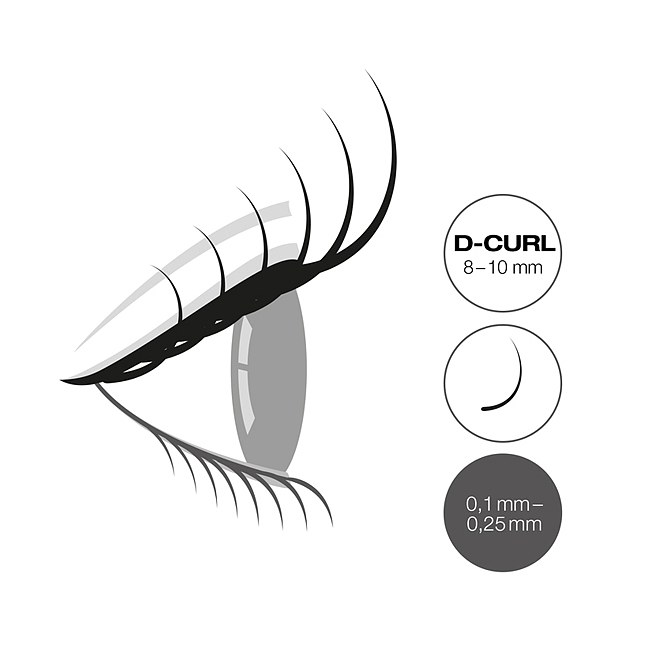LCN Captivating Lashes D Curl Box 8-10 mm