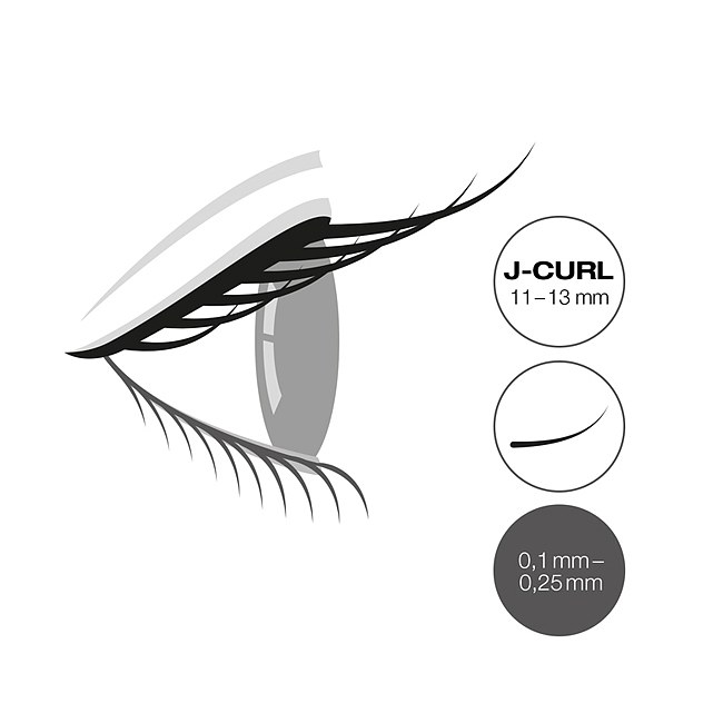 LCN Captivating Lashes J Curl Box 11-13 mm