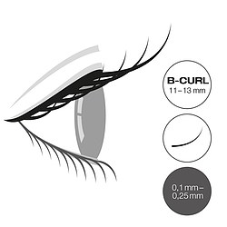 LCN Captivating Lashes B Curl Box 11-13 mm