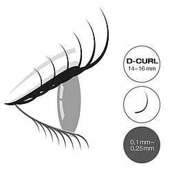 LCN Captivating Lashes D Curl Box 14-16 mm
