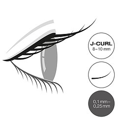 LCN Captivating Lashes J Curl Box 8-10 mm